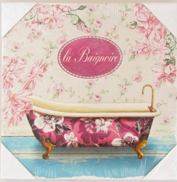 tablou canvas pink bath