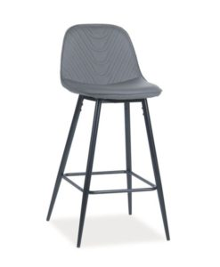 Scaun de bar tapitat Teo H-1 - Grey
