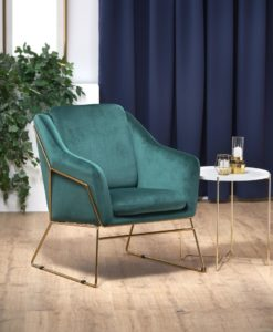 Fotoliu tapitat Soft 3 - Velvet Green - decor